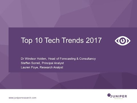 Juniper Research Top 10 Tech Trends Webinar
