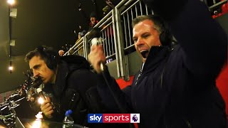 Carragher & Neville's LIVE reactions to Liverpool beating Man Utd! | Commentary Cam