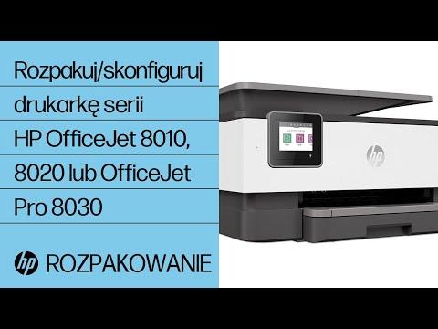 Rozpakowanie i konfiguracja drukarki serii HP OfficeJet 8010, 8020 lub OfficeJet Pro 8030