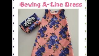 How To Make Pattern And Sew An Easy ALine Dress With Portable Sewing Machine