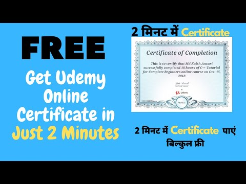 Udemy 100% Free Certificate On Paid Courses | Get Udemy Online Certificate  For Free #UdemyCoupon