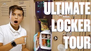RYLERS FIRST LOCKER | ULTIMATE LOCKER TOUR | LED LIGHTS, MINI-FRIDGE, COLD SODAS, SNACKS AND MORE!
