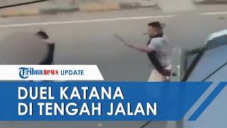 Viral Video 2 Warga Pinrang Duel Sajam di Tengah Jalan, Kapolsek Sebut karena Dendam Lama