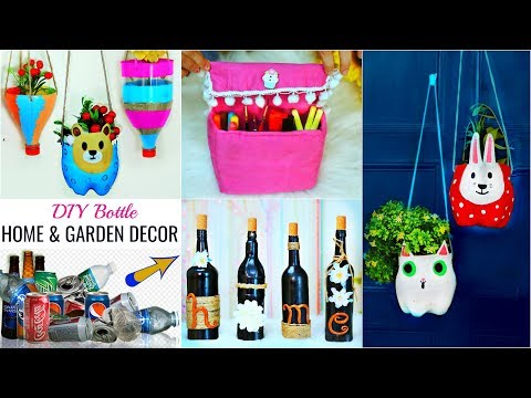 Waste Bottle HACKS for DIY HOME/GARDEN Decor - Magical Craft Ideas   #Recycle #Anaysa #DIYQueen