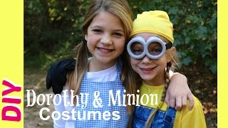 How To Make Dorothy Halloween Costume DIY | Minions Costumes & Trick-or-Treating | Best Friends