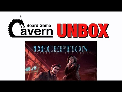 BoardGameCavern unboxes Deception: Murder in Hong Kong