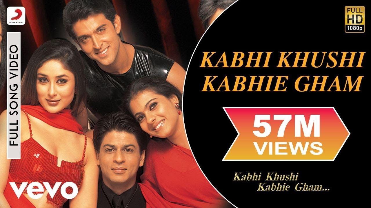Kabhi Khushi Kabhie Gham - Title Track | Shah Rukh Khan | Lata Mangeshkar - Lata Mangeshkar Lyrics in hindi