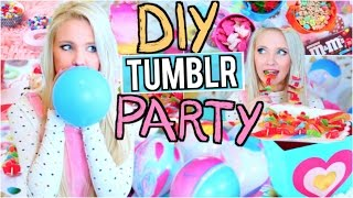 DIY Tumblr Birthday Party! Easy Gifts + Treats!