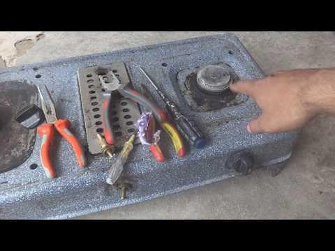 Gas stove burner repair. A DIY home repair for everybody
