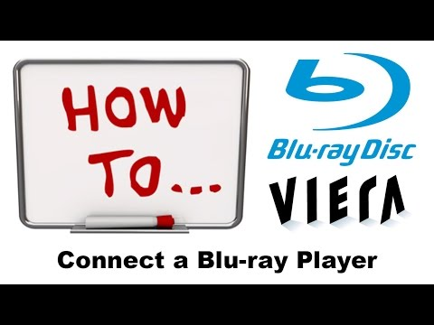 How to connect a Blu-ray player to a HD TV.
