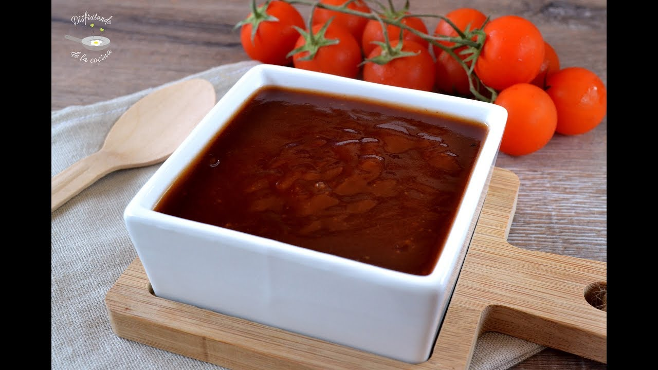 Salsa barbacoa Casera.  Receta fácil y deliciosa