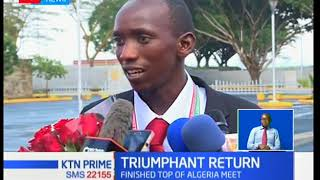 Triumphant return for 30 Kenya cross country athletes who topped Africa, from Algeria