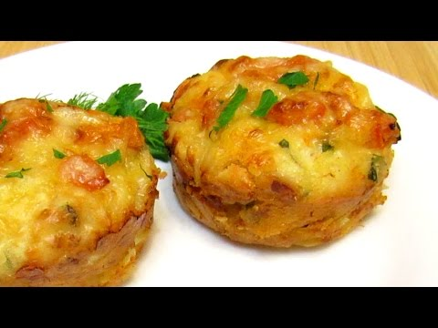 How To Make Chicken And Cheese Muffins With Tomatoes - Quick & Easy Homemade Recipe Tutorial