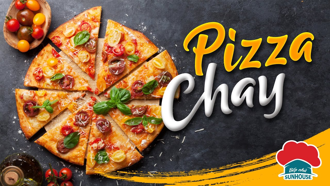 Tự làm PIZZA CHAY tại nhà ngon như ngoài tiệm l Bếp nhà SUNHOUSE