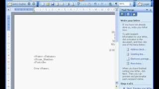 3.1 Mail Merge in Access & Word Using a Table