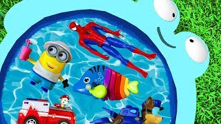 Learning Colors with Paw Patrol, Pj Masks, Ariel, Disney Princesses and Super Heroes