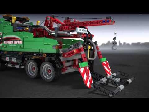 Vidéo LEGO Technic 42008 : Le camion de service