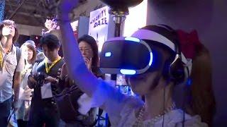 """バーチャルリアリティー「PSVR」で""""初音ミクライブ""""を体験!東京ゲームショウ2015MAiDiGiリポートPlayStationVR#TokyoGameShow#event"""