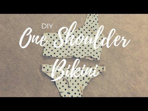 DIY One Shoulder Bikini (EASY)