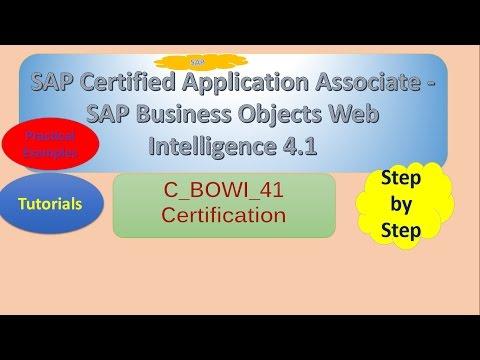 SAP certified Application Associate - SAP Business Objects Web ...