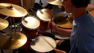 Isaac Pelletier~Chris August-Let The Music Play (Drum Cover)