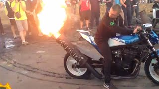 Le Mans Moto GP 2018 Camping Blue Grand Prix De France Video Des Motards: Ruptures, Burns