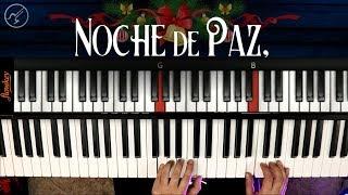 Noche de Paz PIANO Notas Musicales | Villancicos Navideños en Piano