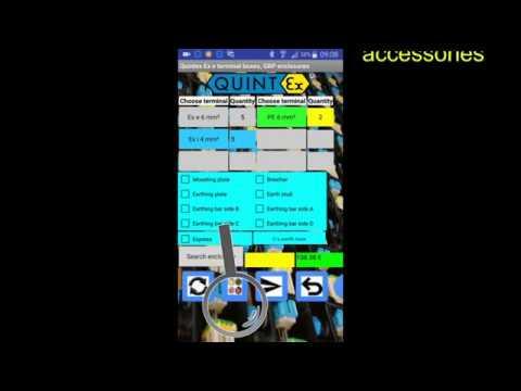 Anwendung der Android App für Ex e Verteiler Design