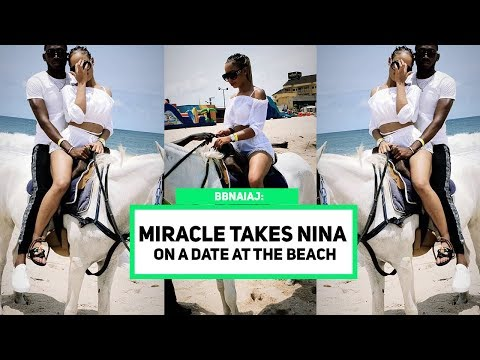 BBNAIJA Miracle Takes Nina On A Date To The Beach Amidst Of Their Breakup Rumor