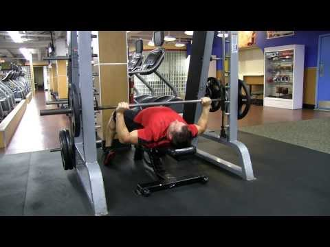 Smith Machine Wide Grip Bench Press