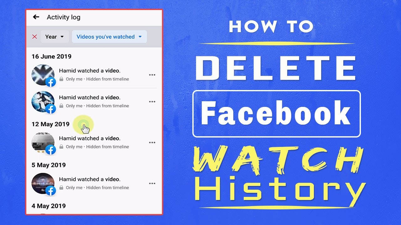 How To Delete Videos You've Watched on Facebook