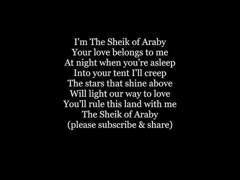 The SHEIK OF ARABY Lyrics Words text trending sing along music song not Beatles