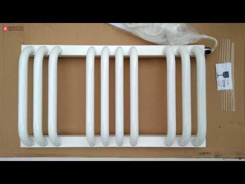 Terma Alex - узкий белый электрический полотенцесушитель