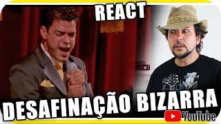 ZEZÉ DI CAMARGO - DESAFINAÇÃO BIZARRA cantando FREDDIE MERCURY Marcio Guerra Reagindo React Reação