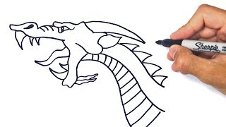 How To Draw A Dragon Step By Step | Dragon Drawing Lesson