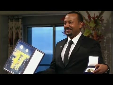 ETHIOPIAN PRIME MINISTER ABIY AHMED PRESENTED WITH THE PRESTIGIOUS NOBEL PEACE PRIZE