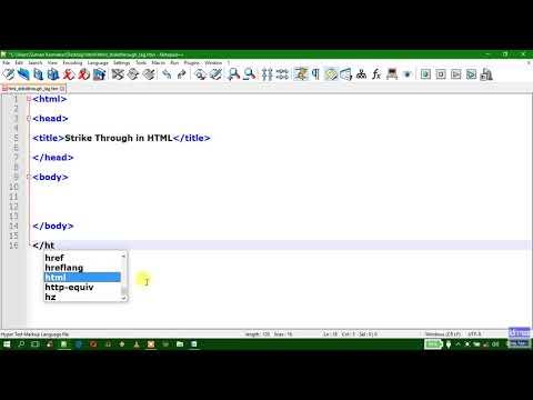 11  HTML Strikethrough Tag