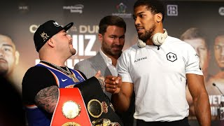 video: Anthony Joshua vs Andy Ruiz Jr weigh-in: live  updates ahead of Saturday's rematch in Saudi Arabia