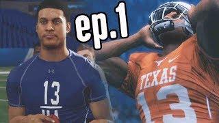 Madden 18 Longshot Gameplay Walkthrough Ep.1 - HIGH SCHOOL GAME & NFL DRAFT COMBINE!