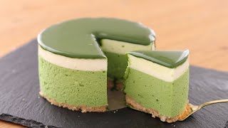 抹茶レアチーズケーキの作り方 No-Bake Matcha Cheesecake*Eggless &Without Oven|HidaMari Cooking