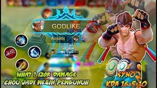 OMG 😲 Chou Syno Mengganas Dengan Build Fighter  - Mobile Legends Bang Bang