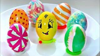 7 способов оригинально и просто покрасить яйца на Пасху.