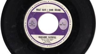"Marianne Faithfull - ""What Have I Done"" (1965 B-side)"