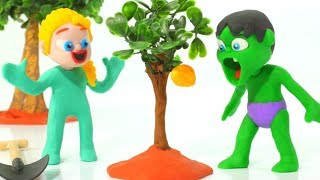 KIDS LEARNING THE GERMINATION PROCESS ❤ PLAY DOH CARTOONS FOR KIDS