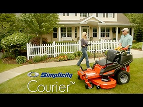 2020 Simplicity Courier 44 in. Briggs & Stratton V-Twin 23 hp in Glasgow, Kentucky - Video 1