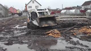 Как убрать мусор на дачном участке погрузчиком Bobcat - steh39.ru