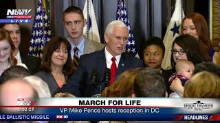 MARCH FOR LIFE: VP Mike Pence, second lady host reception (FNN)