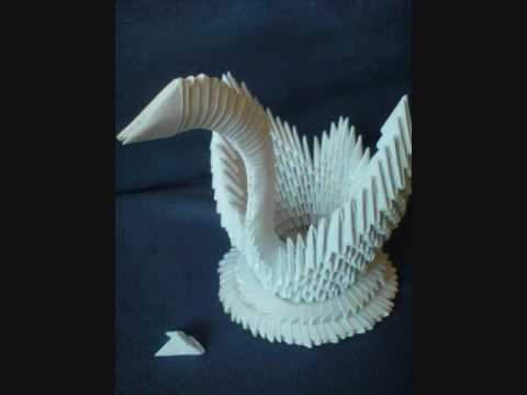 3d origami swan by kleinerchaotberlin drawing tutorial