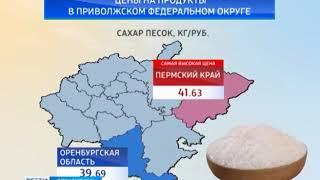 Оренбурстат опубликовал данные по ценам на продукты в ПФО