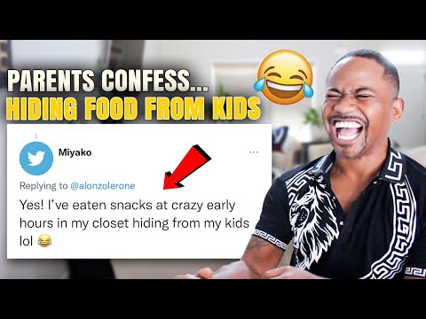 Parents Confessions ! Eating Food while Hiding From KIDS  *HILARIOUS*